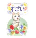 花と猫 BIGスタンプ(個別スタンプ:31)