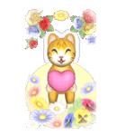 花と猫 BIGスタンプ(個別スタンプ:37)