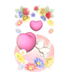 花と猫 BIGスタンプ(個別スタンプ:38)