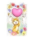 花と猫 BIGスタンプ(個別スタンプ:39)