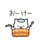 ゆるい白ネコのダジャレ&死語~挨拶~(個別スタンプ:15)