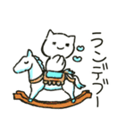 ゆるい白ネコのダジャレ&死語~挨拶~(個別スタンプ:31)