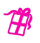 らくがき風デコスタンプ☆ハートガーリー(個別スタンプ:24)