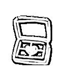 写真に貼れる♥らくがき風デコスタンプ(白)(個別スタンプ:14)