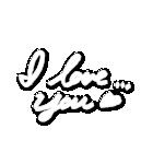 写真に貼れる♥らくがき風デコスタンプ(白)(個別スタンプ:21)