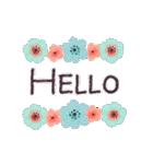 ♡大人の女性✳︎動く✳︎お花のスタンプ♡(個別スタンプ:12)