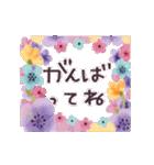 ♡大人の女性✳︎動くお花のスタンプ♡(個別スタンプ:10)