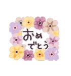 ♡大人の女性✳︎動くお花のスタンプ♡(個別スタンプ:12)