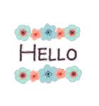 ♡大人の女性✳︎動くお花のスタンプ♡(個別スタンプ:16)