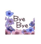 ♡大人の女性✳︎動くお花のスタンプ♡(個別スタンプ:24)