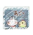 夏・天気✨【白うさぎ&時々インコ】(個別スタンプ:28)