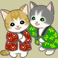 [LINEスタンプ] はんてん猫ちゃんズ