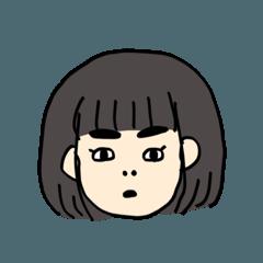 [LINEスタンプ] まなりちゃんのスタンプの画像(メイン)