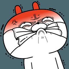 [LINEスタンプ] 顔芸うさぎ3