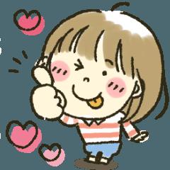 [LINEスタンプ] 女の子★ラブラブ