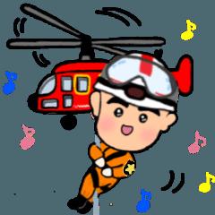 [LINEスタンプ] ガンバレ消防士さん♪