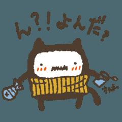 [LINEスタンプ] チョビひげ猫オヤジ