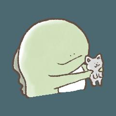 [LINEスタンプ] ゆるくやる気の出ない怪獣