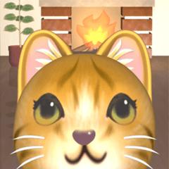 [LINEスタンプ] 飛び出す 暖炉の前の猫