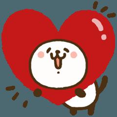 [LINEスタンプ] 愛してるぞ♥気持ち伝えるパンダねこ♪春