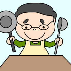 [LINEスタンプ] 仕事も家事も頑張るお父さん