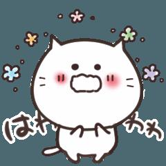 [LINEスタンプ] ねこまる【トラシロ】気持ちが伝わる