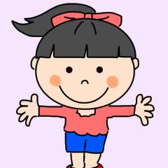 [LINEスタンプ] ポニーテールの可愛い女の子