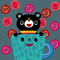 [LINEスタンプ] 絵本みたいな*お花がいっぱいポップアップ