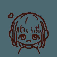[LINEスタンプ] シンプルでかわいい女の子のスタンプ