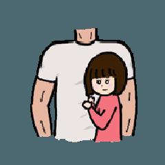 [LINEスタンプ] ムキムキ男子好きな女子のためのスタンプ