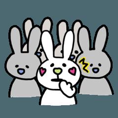 [LINEスタンプ] うさぴょんのHappy World♡