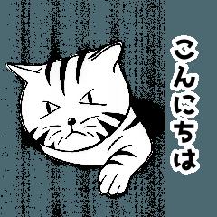 [LINEスタンプ] トラ猫ぷーの日常