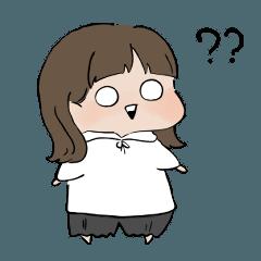 [LINEスタンプ] ミディアムヘア女の子