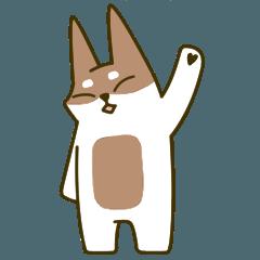 [LINEスタンプ] はつらつ 柴犬