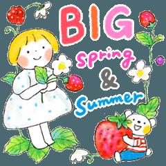 [LINEスタンプ] [BIG]仲良しともだち 春と夏のご挨拶