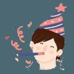 [LINEスタンプ] お誕生日おめでとう!