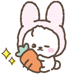 [LINEスタンプ] ウサギをかぶったビジョンフリーゼちゃん
