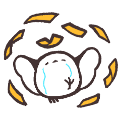 [LINEスタンプ] お金を使いすぎるシマエナガ