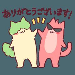 [LINEスタンプ] はちまる&きゅーた(休日ハック!)