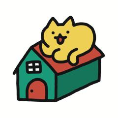 [LINEスタンプ] 楽しんでる猫タマ