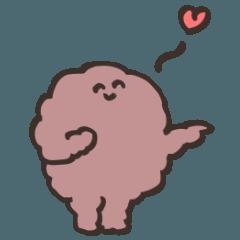 [LINEスタンプ] おはぎでごあいさつ( ˘ ˘ )