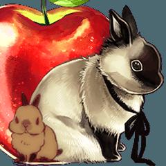 [LINEスタンプ] 兎と林檎2