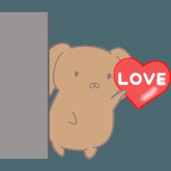 [LINEスタンプ] まるいゆるい感じの犬