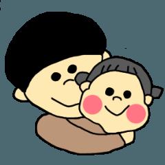 [LINEスタンプ] マッシュママとぷっくり娘の日常