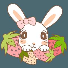 [LINEスタンプ] もりのなか * Strawberry Spring Rabbit