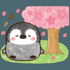[LINEスタンプ] ふんわりペンちゃんの春