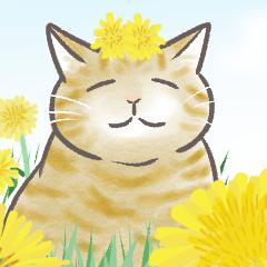 [LINEスタンプ] 猫ちゃんと一緒に春の挨拶 ビックスタンプ
