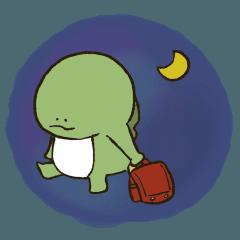 [LINEスタンプ] やる気の出ない怪獣(学生ver.)