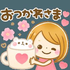 [LINEスタンプ] 動く♡春に可愛い大人GIRL