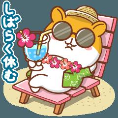 [LINEスタンプ] 夏のハムギャング2 (日本語)